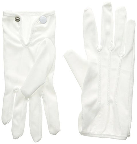 Deluxe Theatrical Gloves (white) Party Accessory  (1 count) (1 Pair/Pkg)