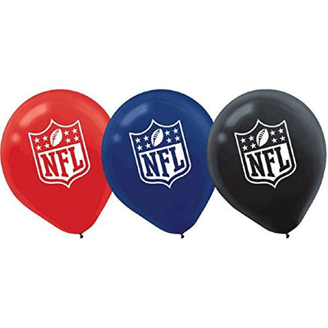 Designware Nfl Latex Balloons, 12 , Assorted