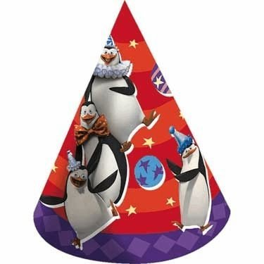 Madagascar 3 Cone Hats by KidsPartyWorld.com