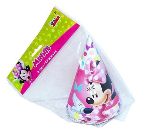 Minnie Mouse Bowtique Cone Party Hats, 8 Count