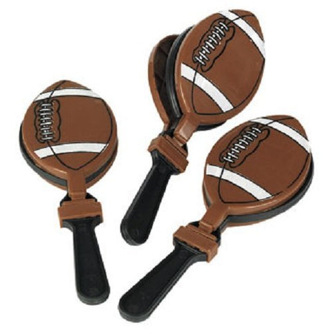 Lot of 12 Football Clappers Party Favors Game Noisemaker Clacker by Fun Express