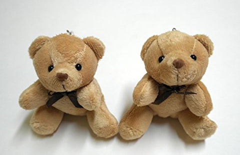 Trusted Buddy Set of 2 Cute Mini Brown Teddy Bears