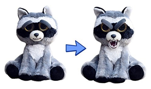 William Mark- Feisty Pets: Rascal Rampage- Adorable 8.5  Plush Stuffed Raccoon That Turns Feisty With a Squeeze!