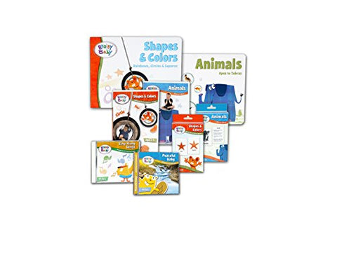 Brainy Baby Shapes, Colors and Animals DVD, Flashcards, Board Book and CDs 8 Piece Set