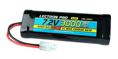 of NiMH 7.2V 6-cell 3000mAh Flat Pack with Tamiya Connector