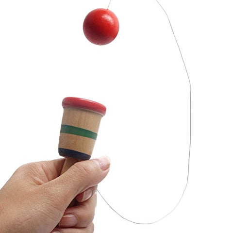Yarssir Japanese Wooden Toy Kendama Mini Ball and Cup Toys Catch Skill Game Handcrafted Gifts For Kids