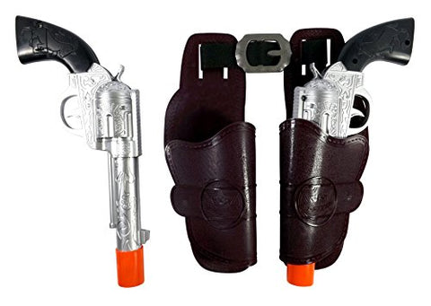 11  Western Dual Toy Cowboy Gun & Holster Set Wild West Cowboy Sheriff with Realistic Sounds