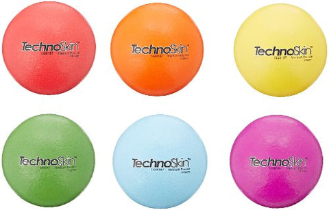 School Smart TechnoSkin Coated-Foam Medium Bounce Balls - 6 1/2 inches - Set of 6 - Assorted Colors