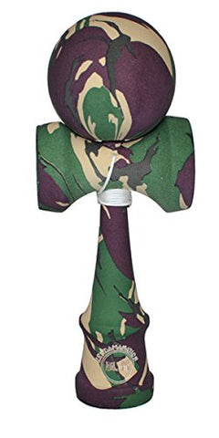 Eclipse Kendama Premium - Full Camo Rubber Traditional Size Multi Color