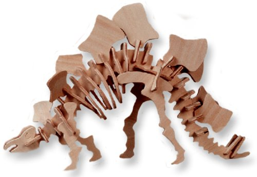 Small Stegosaurus 3-D Wooden Puzzle, Pieces, 11 5x2 5x7 inches
