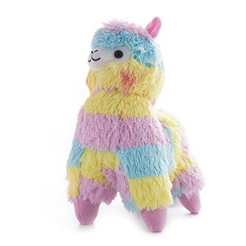 Wewill Adorable Beautiful Colorful Plush Rainbow Alpaca Toy Children's Day Gift, 14-Inch