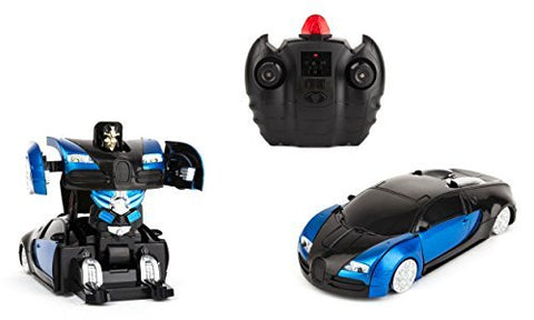 Wall-Climbing Fast Electric RC Toys Autobots Blue Transformable Robot Cars + Remote Control - The Perfect Christmas Gift For Kids! Drives On The Wall, Ceiling and Floor