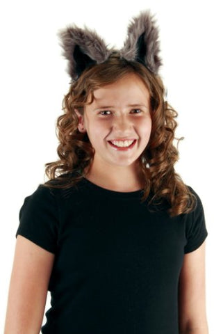 Raccoon Costume Ears Headband and Tail Kit for Women -elope