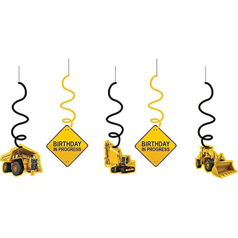 Construction Zone Birthday Whirls by Creative Converting (Value 3-Pack)