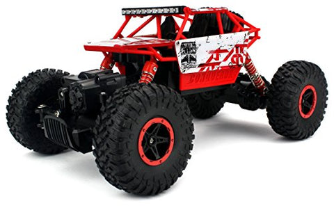Velocity Toys 2.4 GHz Control System 4WD 1:18 Scale Size Rock Crawler Remote Control Truck