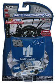 2017 Wave 1 Dale Earnhardt JR #88 Nationwide Paint Scheme 1/64 Scale Diecast Lionel NASCAR Authentics With Mini Hood