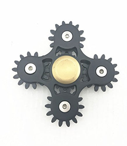 5 Gears Linkage Metal Fidget Hand Spinner Fast Rotation Luxury Stress Relief Toy(Black)