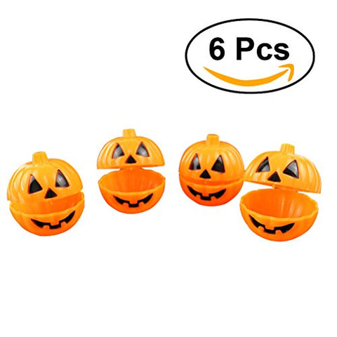 Tinksky Pumpkin Shaped Storage Box Case Container Halloween Mini Gift Holder Props 6pcs (Yellow)