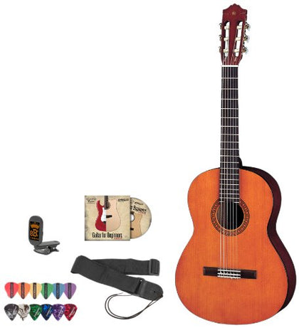 Yamaha JF-CGS102A-KIT-1 1/2 Size Acoustic Electric Guitar Kit withTuner, Instructional DVD, Strap and Planet Waves Pick Sampler