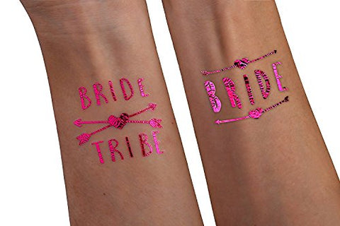 Pink - Bride Tribe Temporary Tattoos For A Bachelorette Party