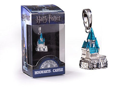 Lumos Harry Potter Charm # 3 - Hogwarts Castle (Silver Plated)