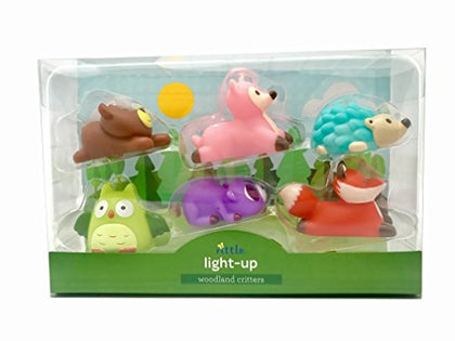 Rittle Woodland Critters, Cute Floating Light-up Bath Toys (Set of 6)