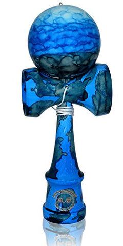 Eclipse Kendama Standard Size - Full Glossy Blue on Blue Camo