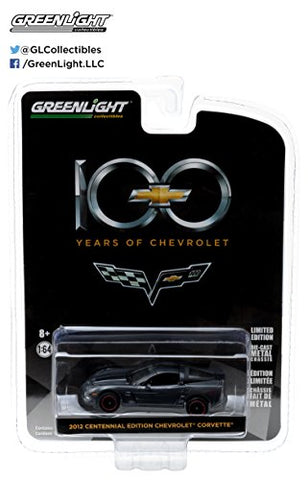 2012 Chevrolet Corvette 100th Anniversary Centenial Edition Anniversary Collection Series 4 1:64 Greenlight 27890 D