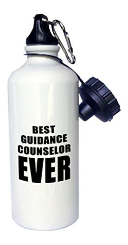3Drose Wb_223099_1 Best Guidance Counselor Ever Sports Water Bottle, 21 Oz, White