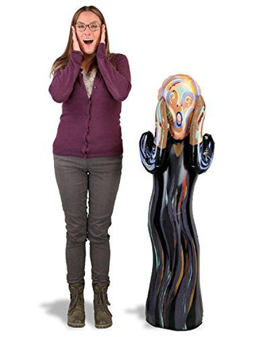 Inflatable The Scream Doll Large 48  Tall Edvard Munch w/ Free Sticker