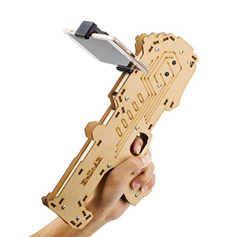 AR Game Gun for Kids & Adults, BEST Augmented Reality Game Controller for Cell Phone, Made of Aosong Board, Bluetooth Compatible with IOS and Android Smart Phones - includes AR Game App