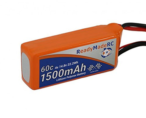 RMRC Orange Series - 1500mAh 4S 60C Lipo - T Connector (22.2Wh) Perfect for RC Drone, Boat, airplane, quadcopter, car, racing, UAV, FPV