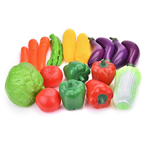 Play Food Set for Kids Kitchen Toys Fun Food and Vegetables Pretend Food Playset for Children Girls Boys Educational Early Age Basic Skills Development for Kids for Toddlers 20PCs Easter Gifts