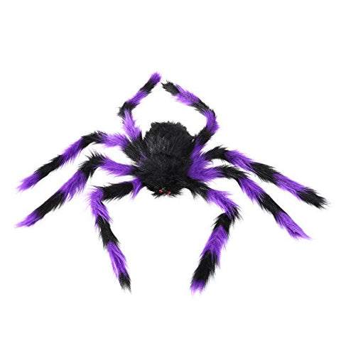 Tinksky Fake Spider Scary Spooky Spider Plush Toy Halloween Party Scary Decoration Haunted House Prop 75cm Assorted Colors
