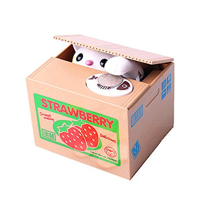 HuanX35 Money Box Cute Itazura Automatic Stealing Coin Cat Big Piggy/Saving Box/Bank/Pot Coins Bank