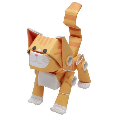 PIPEROID animals: Orange Tabby - paper craft kit for kids and adults