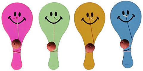 Transparent Smile Paddle Balls - 12 per unit