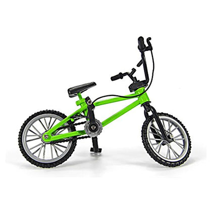 Miniature Metal Toys Extreme Sports Finger Bicycle Mountain Bike Cool Boy Toy Creative Game Gift, Green