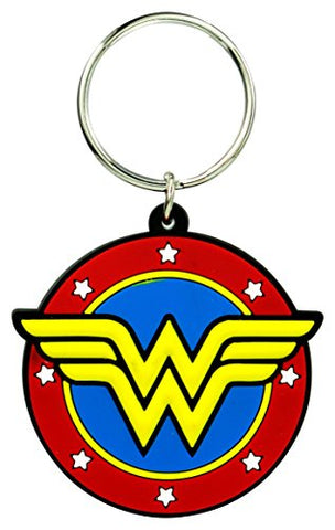 DC Wonder Woman Classic Logo Soft Touch Pvc Key Ring Accessories