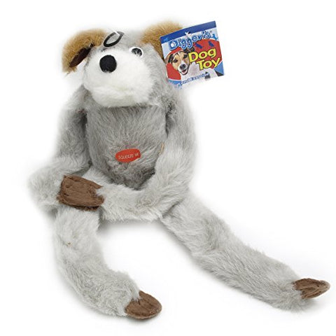 c36787b8106 Boss Pet Plush Sloth Long Jumper with Squeaker and Extra Long Limbs Dog Toy