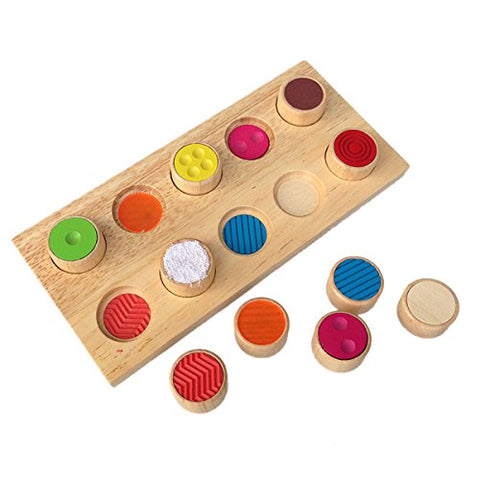 Sensory SEN Montessori Tactile Touch & Match Sensorial Wooden Material Children's Basic Skills Development Toys For Toddlers
