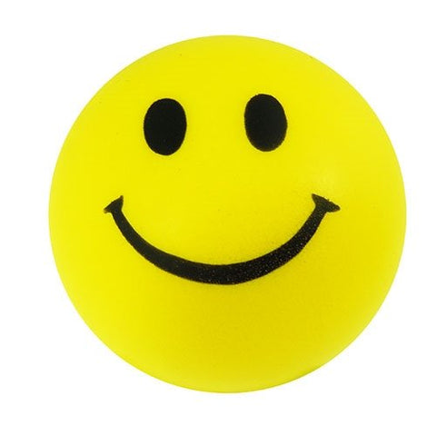 Lot Of 12 Yellow And Black Smile Smiley Face Stress Squeeze Balls