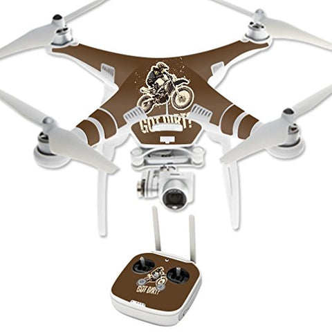 Mightyskins Skin Compatible With Dji Phantom 3 Professional  Got Dirt | Protective, Durable, And Unique Vinyl Decal Wrap Cover | Easy To Apply, Remove, And Change Styles | Made In The Usa