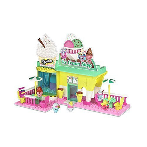 Mix and Match Figure Shopkins Kinstructions Ice Cream Shop Playset