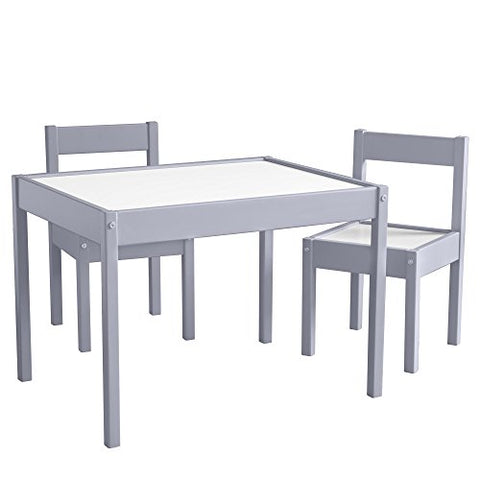 Baby Relax Hunter 3 Piece Kiddy Table And Chair Set, Gray