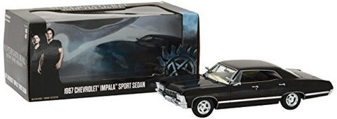 GreenLight Hollywood Supernatural Join The Hunt TV Series 1967 Chevrolet Impala Sport Sedan, 1:24