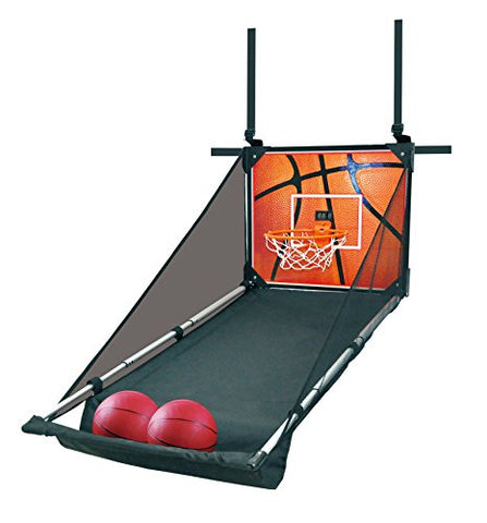 Sportshero Indoor Rebound Hanging Basketball Hoop Game Set, Includes 2 Small Balls & Ball Inflator Pump