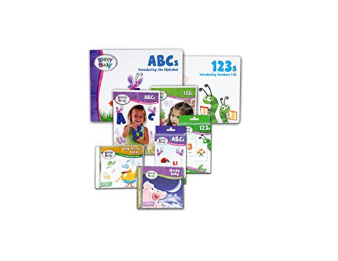 Brainy Baby Preschool Learning ABCs, 123s Board Books, Flash Cards, DVDs and Music CDs : 8 Piece Set