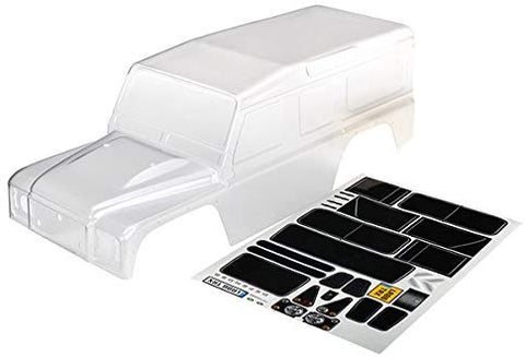 Traxxas 8011 1/10 Scale Land Rover Defender Body (Clear, Requires Painting)