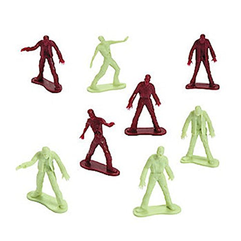 12 ~ Zombie Toy Men Figures ~ approx. 2  tall ~ plastic ~ New